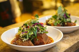 Red Spice Road's famous pork belly dish